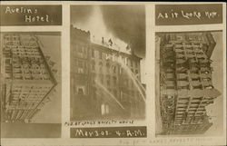 Aveline Hotel and Fire May 3rd 1908