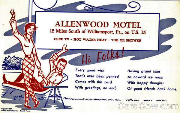 Allenwood Motel Williamsport Pennsylvania