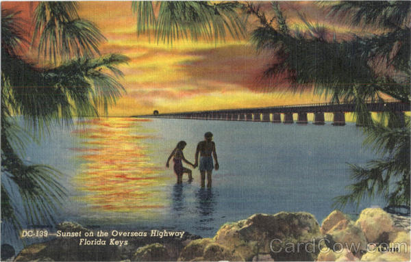 Sunset On The Overseas Highway Florida Keys