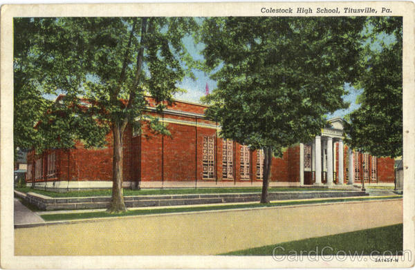 Colestock High School Titusville Pennsylvania