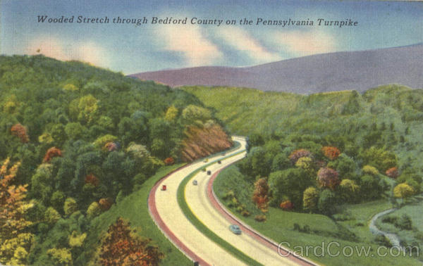 Wooded Stretch Through Bedford County On The Pennsylvania Turnpike