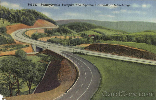 Pennsylvania Turnpike And Approach Of Bedford Interchange