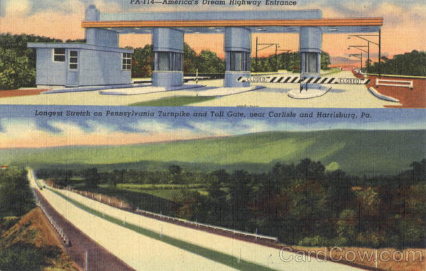 America's Dream Highway Entrance Pennsylvania Turnpike