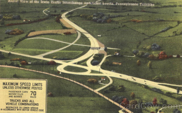 Aerial View Of The Irwin Traffic Interchange And Ticket Booths Pennsylvania Turnpike
