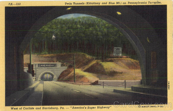 Twin Tunnels On Pennsylvania Turnpike