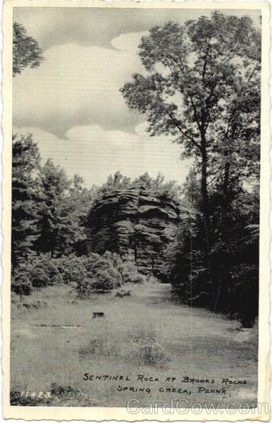 Sentinel Rock At Brooks Rocks Spring Creek Pennsylvania