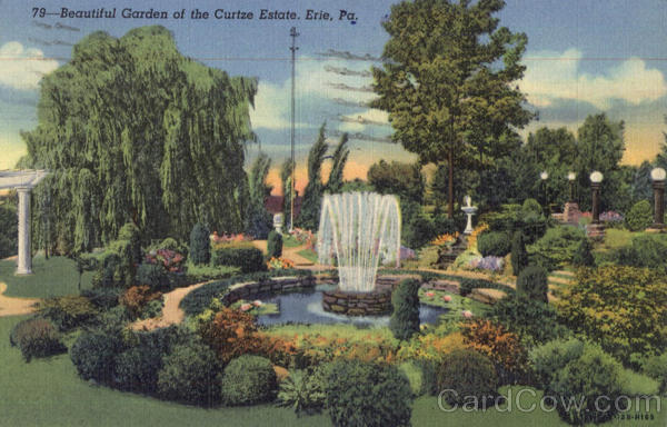 Beautiful Garden Of The Curtze Estate Erie Pennsylvania