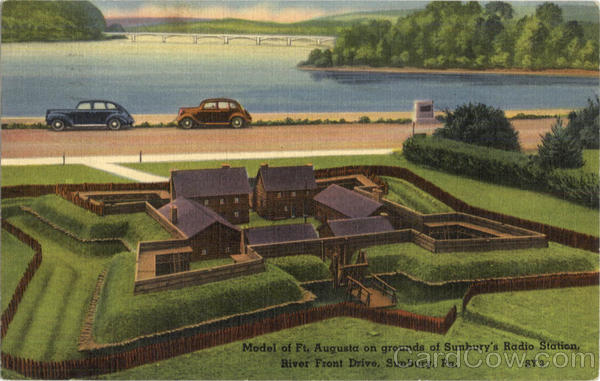 Model Of Ft. Augusta On Grounds Of Sunbury's Radio Station, River front Drive Pennsylvania