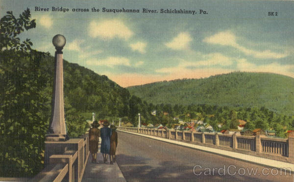 River Bridge Across The Susquehanna River Schikshinny Pennsylvania