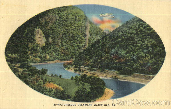 Picturesque Delaware Water Gap Pennsylvania