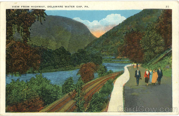 View From Highway Delaware Water Gap Pennsylvania