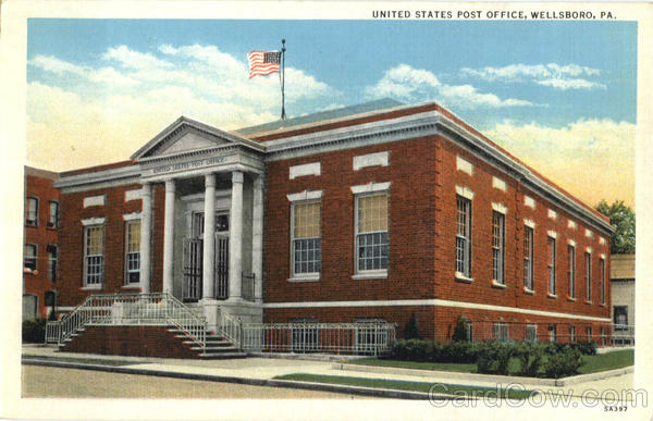 United States Post Office Wellsboro Pennsylvania