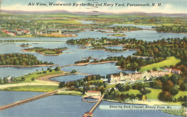Air View Wentworth By The Sea And Navy Yard Portsmouth New Hampshire