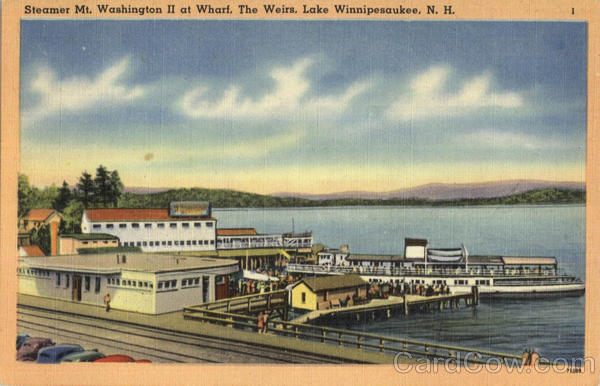 Steamer Mt. Washington Ii At Wharf, The Weirs Lake Winnipesaukee New Hampshire