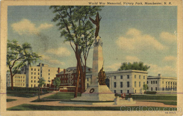 World War Memorial , Victory Park Manchester New Hampshire