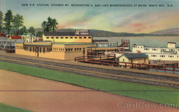 New R.R. Station White Mts., New Hampshire