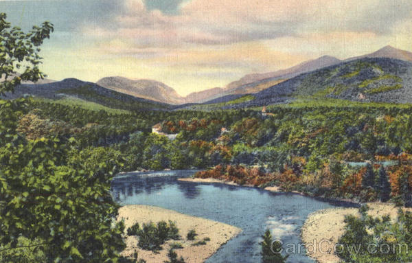 Franconia Notch And The Pemigewasset River White Mts., New Hampshire