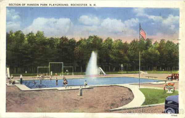 Section Of Hanson Park Playground Rochester New Hampshire