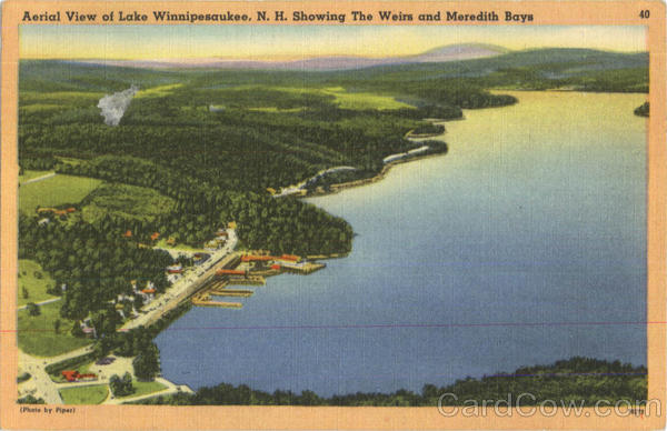 Aerial View Of Lake Winnipesaukee New Hampshire