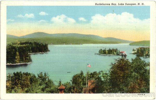 Burkehaven Bay , Lake Sunapee New Hampshire
