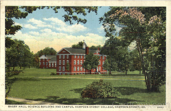 Bagby Hall, Hampden Sydney College Virginia