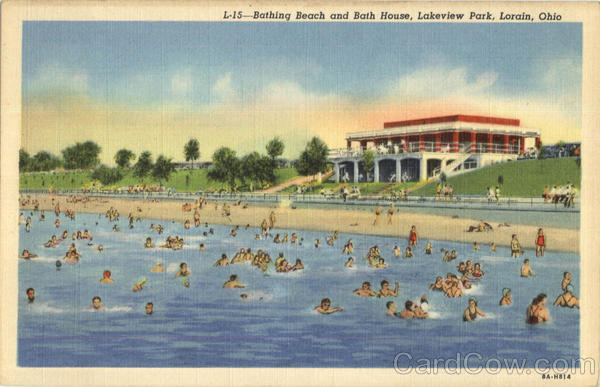 Bathing Beach And Bath House, Lakeview Park Lorain Ohio