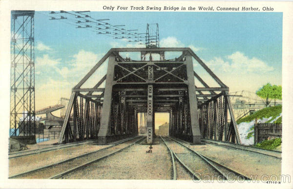 Only Four Track Swing Bridge In The World Conneaut Harbor Ohio