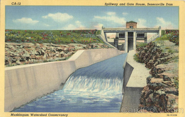 Spillway And Gate House, Senecaville Dam Ohio