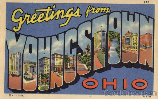 Greetings From Youngstown Ohio Large Letter