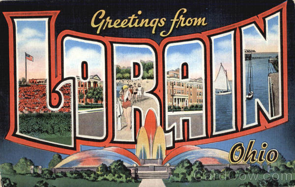 Greetings From Lorain Ohio Large Letter