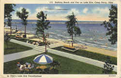 Bathing Beach And Pier On Lake Erie