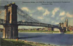 Suspension Bridge Over Ohio River