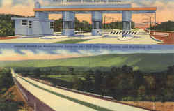 America's Dream Highway Entrance Postcard