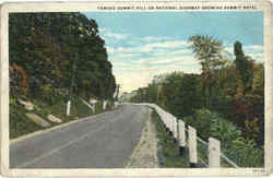 Famous Summit Hill On National Highway Postcard