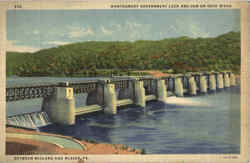 Montgomery Government Lock And Dam On Ohio River
