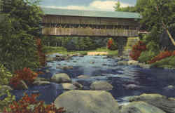 Old Covered Bridge In The White Mountains