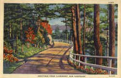 Greetings From Claremont Postcard