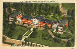 Airplane View Of Sullins College Postcard