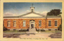 United States Post Office Of Cuyahoga Falls Postcard