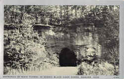 Entrance Of Rock Tunnel In Scenic Black Hand Gorge