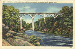 Cuyahoga River Gorge And High Level Bridge, Cuyahoga Falls