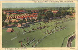 Aeroplane View Of Camp Perry Postcard