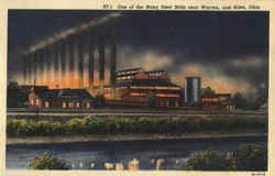 One Of The Many Steel Mills Near Warren and Niles Postcard