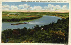 Looking South On Ohio River Postcard