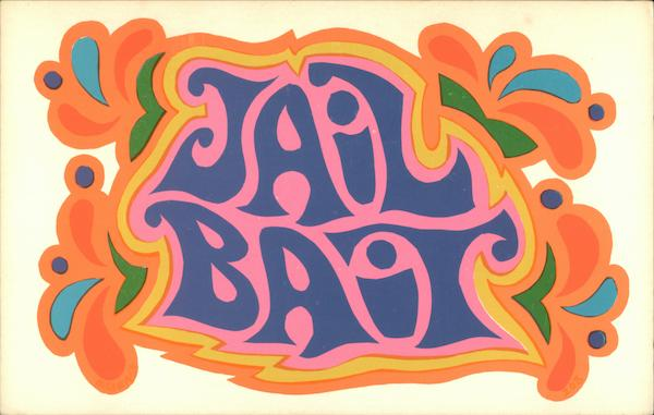 Jail Bait - Hippie 1960's Psychedelic Pop Art
