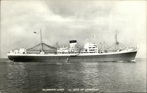 S.S. City of Liverpool - Ellerman Lines Boats, Ships