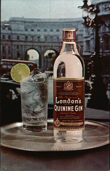 London's Quinine Gin Advertising