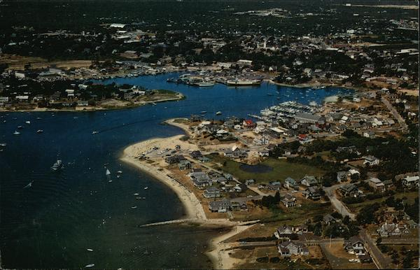 Aerial View Hyannis Harbor, Cape Cod Massachusetts