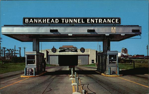 Eastern Entrance to Bankhead Tunnel Mobile Alabama