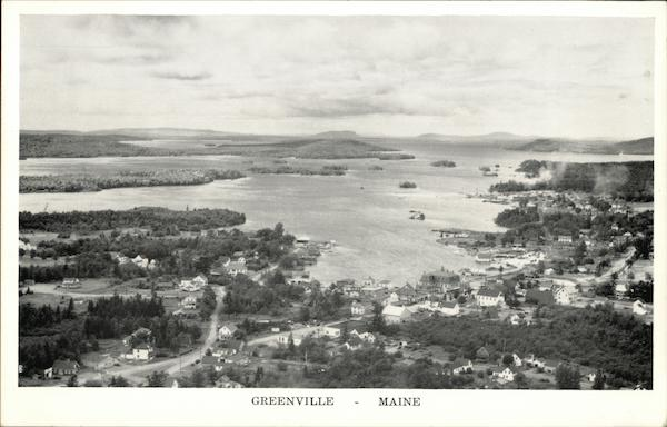 Aerial View Looking North Greenville Maine